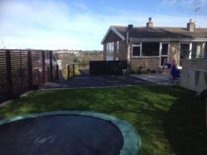 new trampoline in garden