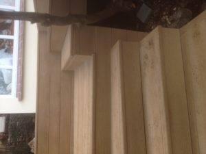 new wooden decking steps