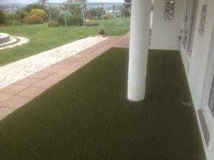 new turf installation in back garden