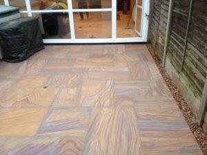 new paving in back garden