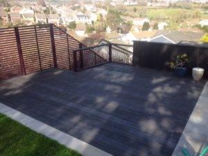 new black garden decking