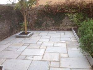 new paving slabs in garden