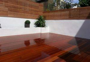 new decking and garden fence