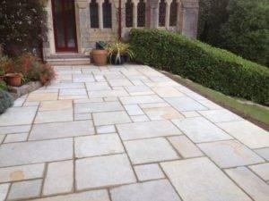 new paving in garden