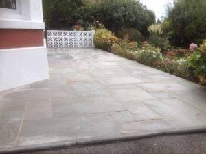 new paving installation
