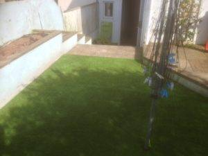 new turf in back garden