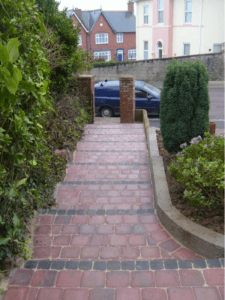 newly paved staircase up to property