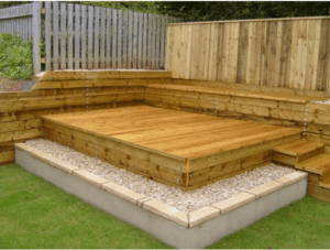 new stepped decking