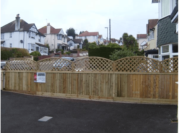 new garden fence on driveway