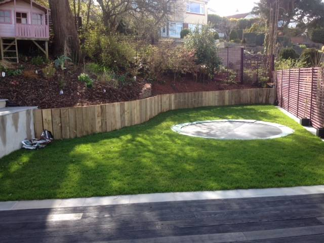 Decked, turfed and Fenced Rear Garden 4