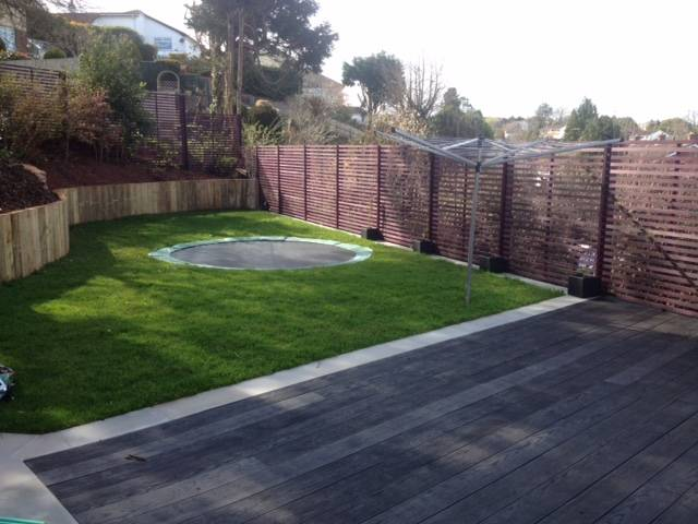 Decked, turfed and Fenced Rear Garden 2