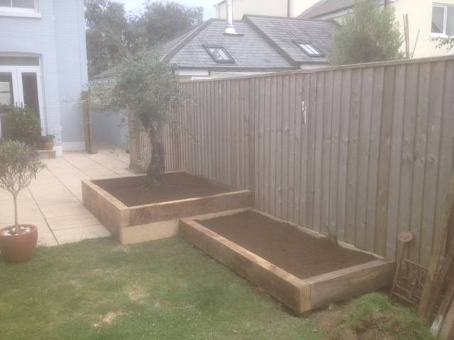 Raised planters in the Garden 2