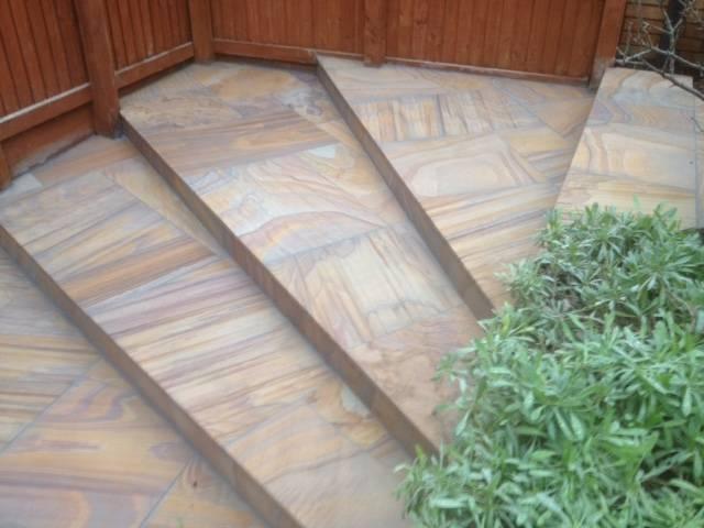 Textured patio slabed rear garden 3