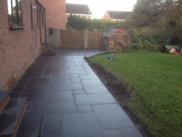 Black slate effect patio area 3