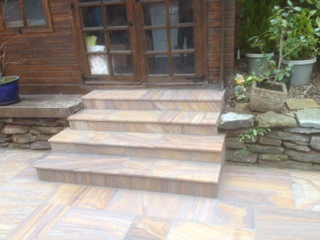 Patio and patio steps