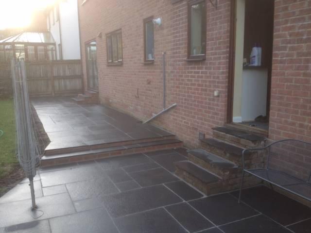 Black slate effect patio area 2