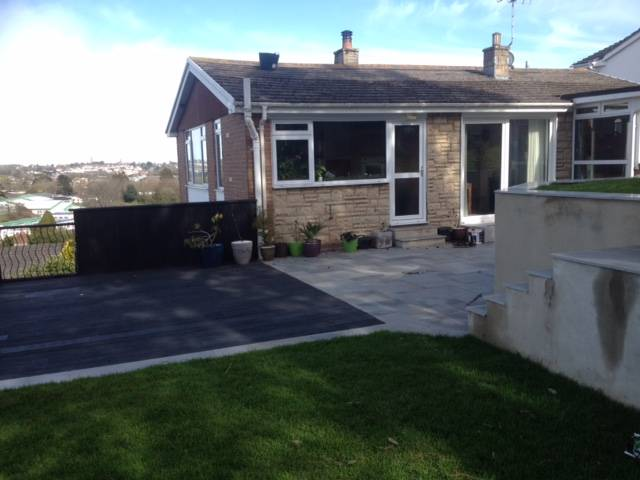 Decked, turfed and Fenced Rear Garden 6