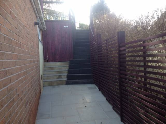 Side Passage patio and steps